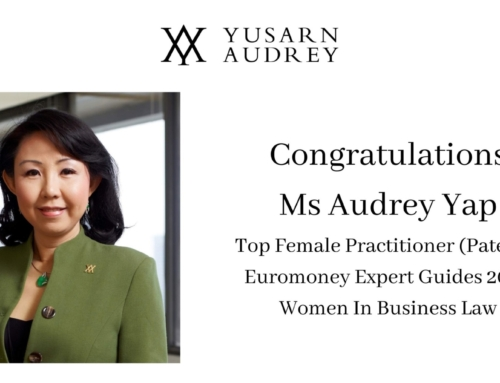 Regional Managing Partner Ms Audrey Yap Recognized in 2021 Euromoney Expert Guides: Women in Business Law, 11th edition